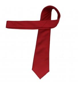 krawat jedwabny plain red