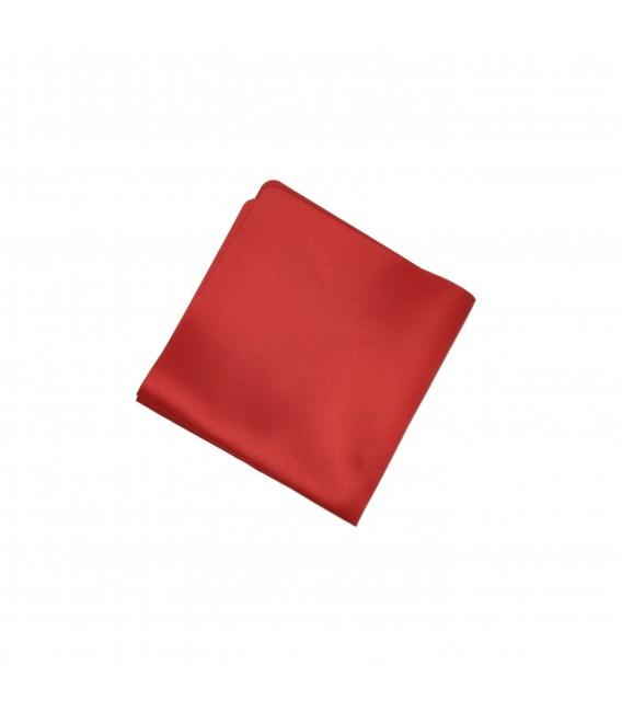poszetka satynowa czerwona
