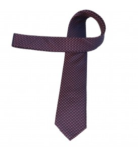 krawat jedwabny leafcutter
