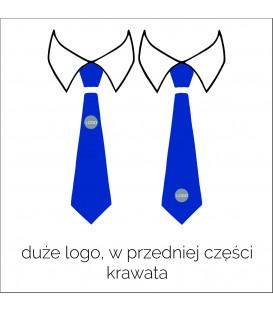 krawat z logo w przedniej części