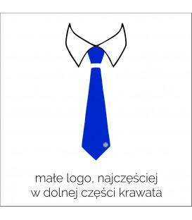 krawat z małym logo