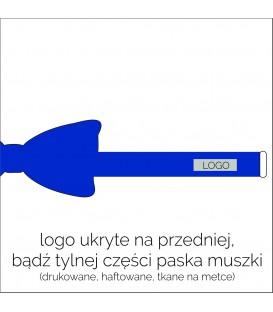 muszka z logo na pasku