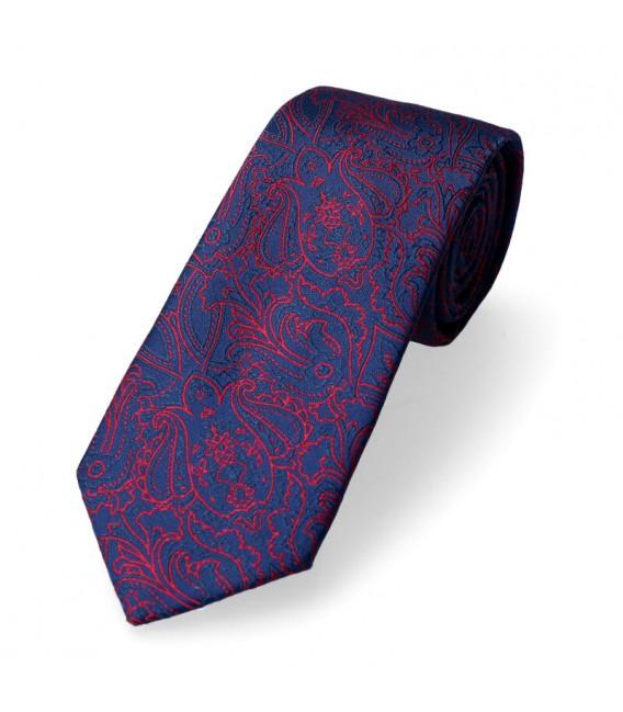 krawat w bordowe kwiaty