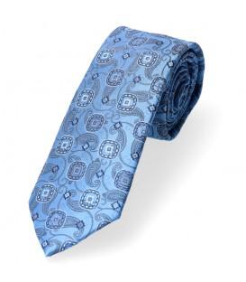 krawat klasyczny błękit w kółeczka
