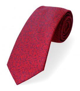 krawat czerwony drobny wzorek
