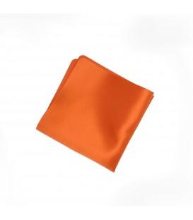 poszetka satynowa pomarańczowa