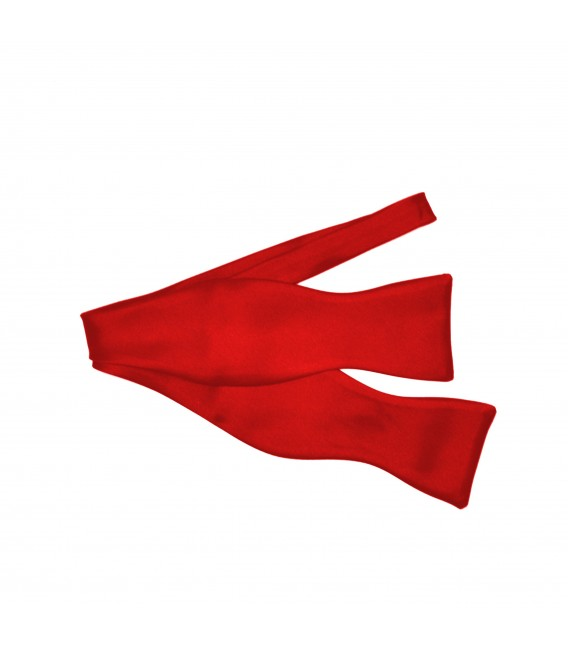 classic self tied red bow tie