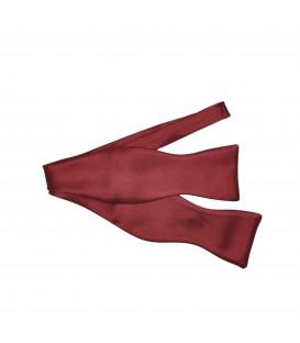 classic self tied claret bow tie