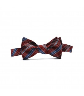 regulated checked self-tie bow tie
