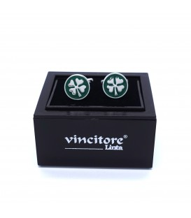 cufflinks four-leaf clover