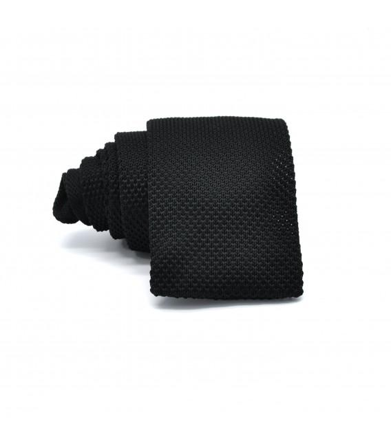 black knit tie