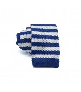 niebiesko- biały knit