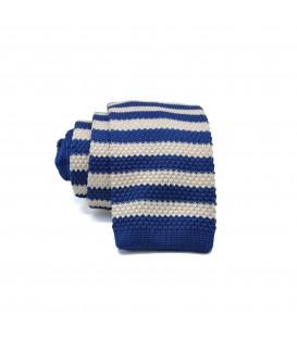 niebiesko- kremowy knit